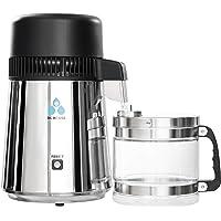 DCHOUSE Roestvrijstalen waterbranders met glazen sproeier, glazen fles-waterbehandeler thuis water distilleerderij…