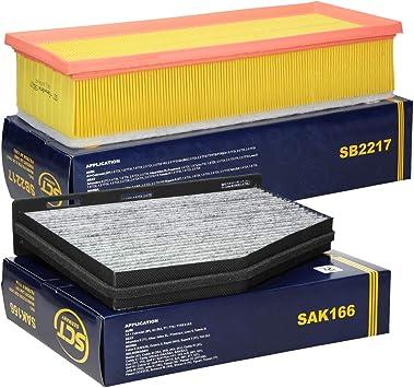 Ecd Germany Inspektionspaket Wartungspaket Filtersatz Innenraumfilter Mit Aktivkohle Luftfilter Auto
