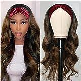 UNice Ombre FB30 Highlight Brown Body Wave Headband Human Hair Wig for Black Women,Brazilian Unprocessed Virgin Hair Balayage