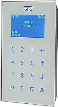 ELDES Teclado de Alarma cableado Panel tactil con Display ...
