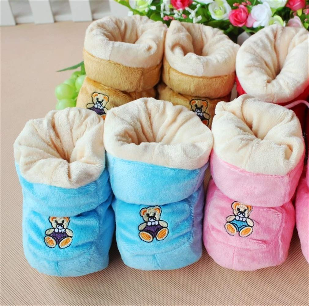 Wetietir Soft Anti Slip Warm Winter Cotton Baby Boots Infant Prewalker Toddler Pink Color : Pink, Size : One Size
