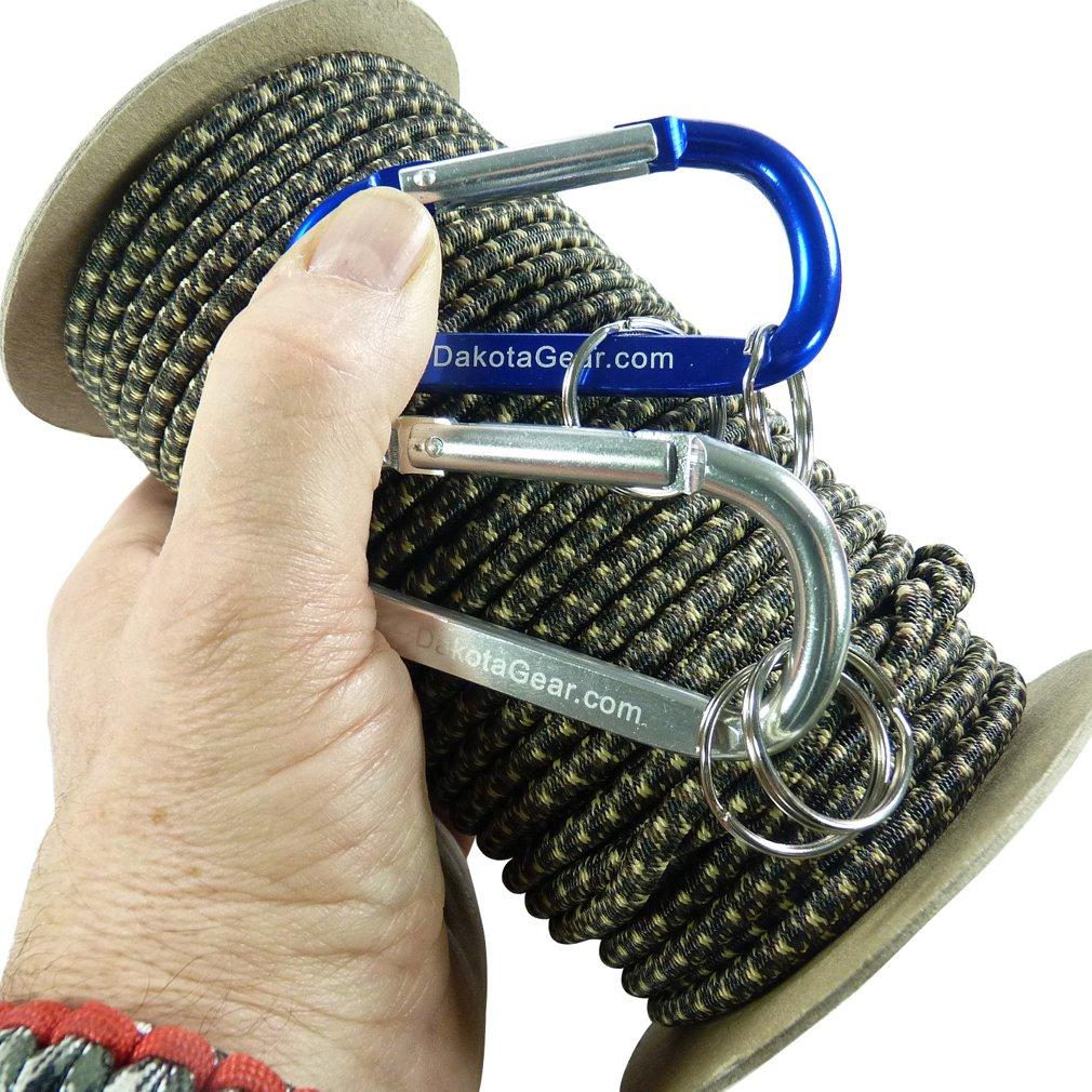 日本最大級 ショックコード マリングレード 米国製カラビナ2つつき付き直径1/8 3/16 100 1 マリングレード/4インチ x 25 50 100フィート 6色。バンジーコード、ストレッチコード、エラスティックコードとも呼ばれます。 B018V82YZG ウッドランド迷彩 1/8 inch x 100 feet spool 1/8 inch x 100 feet spool|ウッドランド迷彩, FIVE HUNDRED WORKS.:219d9235 --- a0267596.xsph.ru