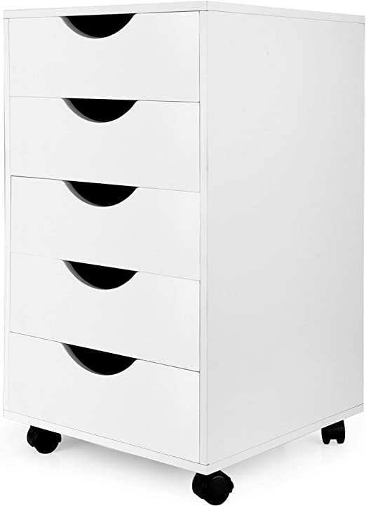 Amazon.com: eMerit - Archivador con 5 cajones, color blanco ...