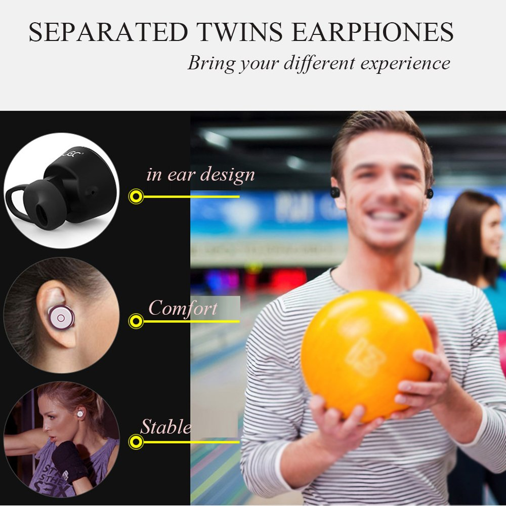 Amazon.com: SZDLDT Twins Wireless Earbuds Bluetooth mini in ear double earphones Cordless headset With microphone auriculares inalambrico bluetooth: Home ...