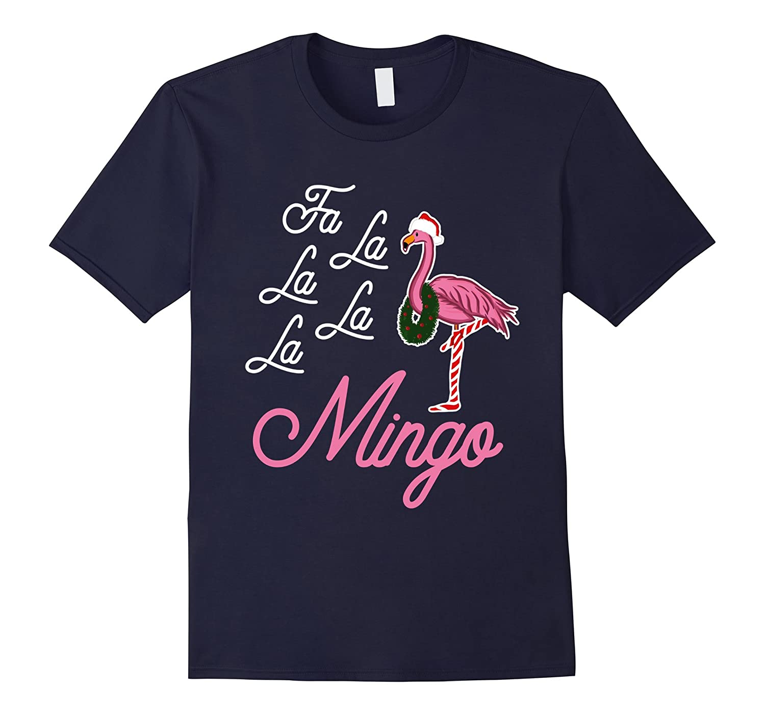 flamingo christmas shirt funny xmas gifts - Men Women Kids-FL