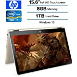 2018 HP Flagship Convertible 2-in-1 15.6 inch Touchscreen FHD IPS Laptop (1920 x 1080), Intel Core i7 8550U (Up to 4GHz), 1TB Hard Drive, 8GB Memory, 2GB Radeon 530 Dedicated, Win 10 Home