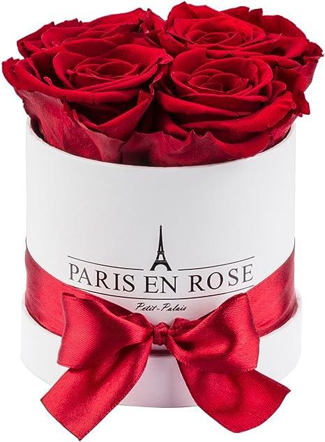 Paris En Rose Rosenbox Weiße Flowerbox Mit Bordeauxroten Infinity Rosen Petit Palais 4 Konservierte Blume