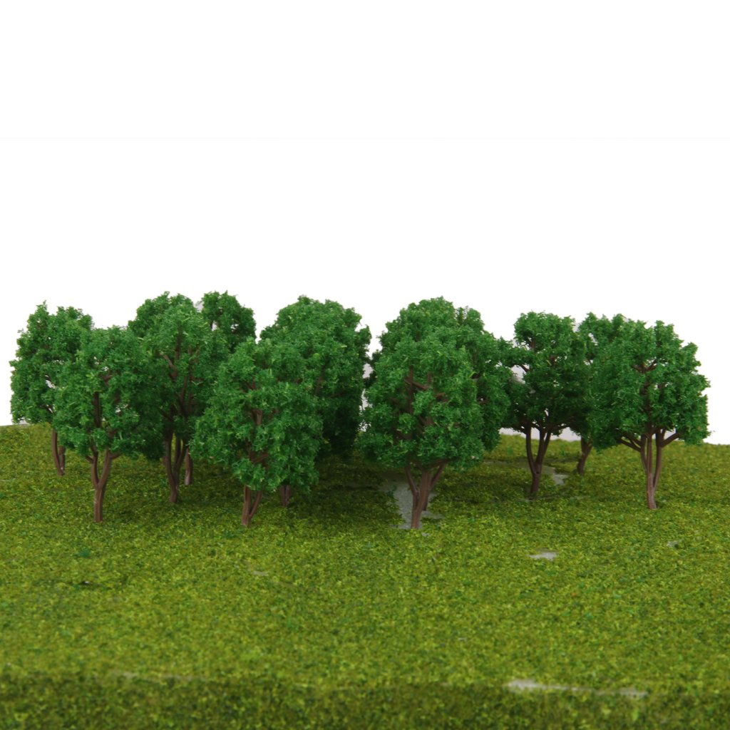 MagiDeal 20Pcs 1//150 Scale Scenery Landscape Model Train Railway Trees Green