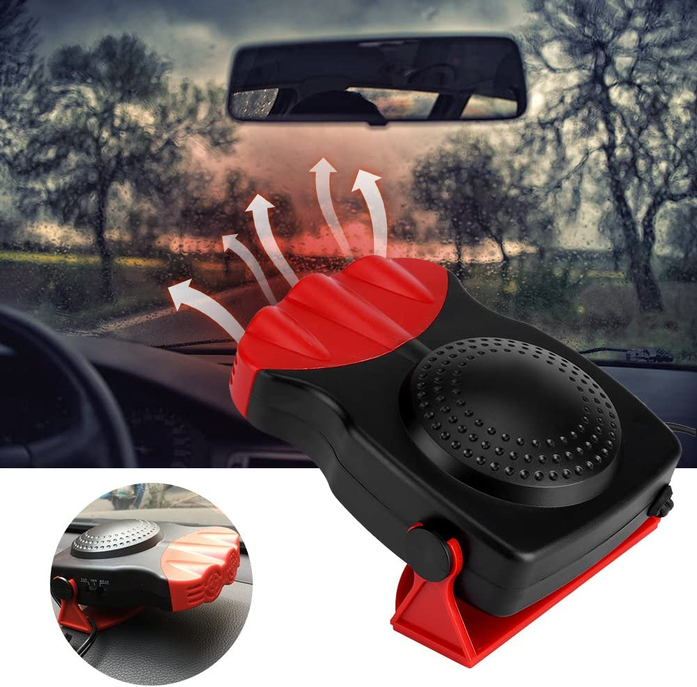 Car Heater 150W 12V 2 In1 Car Truck Heating Cooling Fan Fast Heating Windscreen Demister Defroster