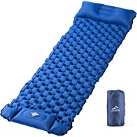 Elegear Sleeping Pad for Camping, Ultralight Inflatable Backpacking Air Mattress with Pillow Built-in Foot Pump…