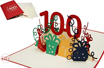 Lin17598 N352 Carte Pop Up 3d 100 Carte D Anniversaire Pop Up 100 Cm Amazon Fr Fournitures De Bureau