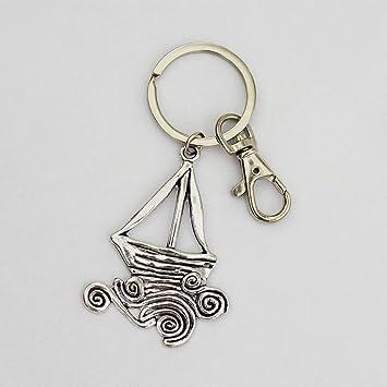Llavero de barco de vela, llavero de barco, llavero de barco ...