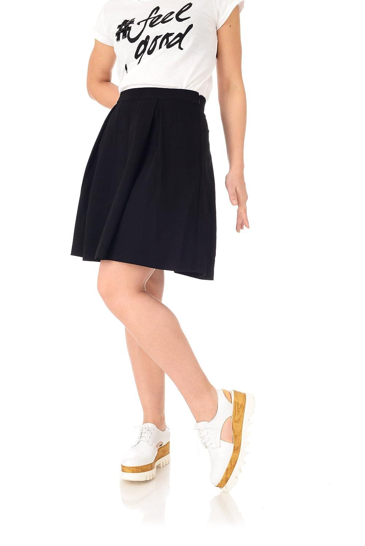 Only Onlmuki Knee Skirt Wvn, Falda para Mujer, Negro (Black) 36 ...