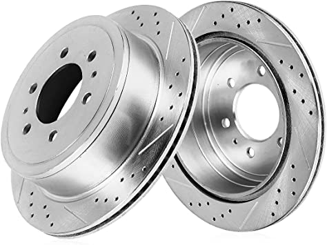 Front 290mm 6 Lug Brake Disc Rotors And Ceramic Pads For PASSPORT AXIOM RODEO