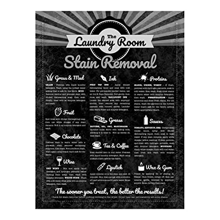 Stain Removal Guide Laundry Sewing Laundromat -Cartel De ...