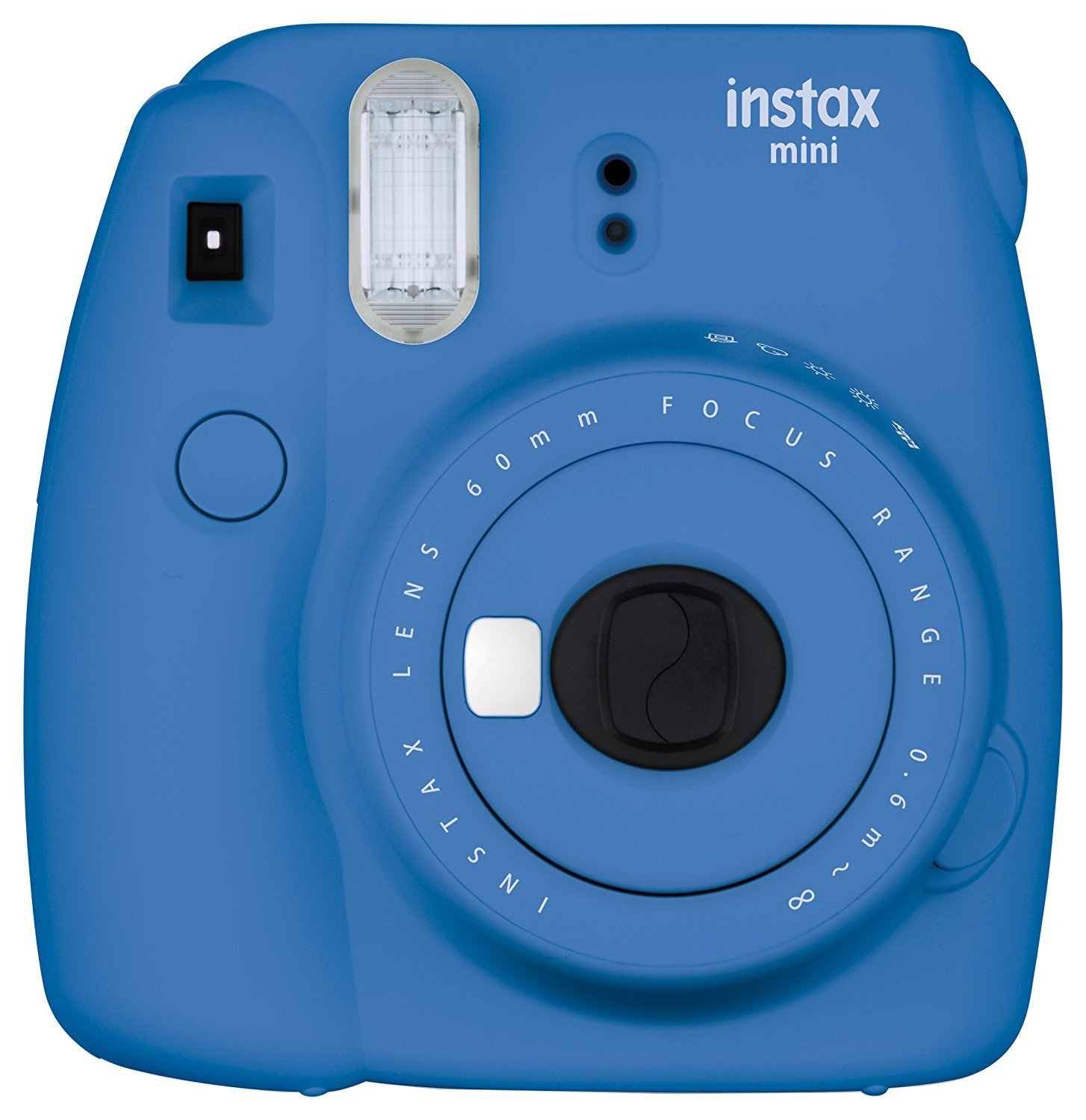 FujiFilm Instax Mini 9 Instant Camera + Fuji Instax Film (40 Sheets) + Accessories Bundle - Carrying Case, Color Filters, Photo Album, Stickers, Selfie Lens + MORE (Cobalt Blue)