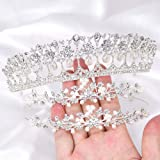 Rhinestone Crystal Tiaras and Crowns Headband For Women Birthday Pageant Wedding Prom Princess Crown (3PCS pack)