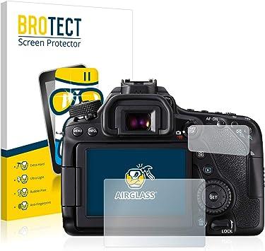 BROTECT Protector Pantalla Cristal Compatible con Canon EOS 80D ...