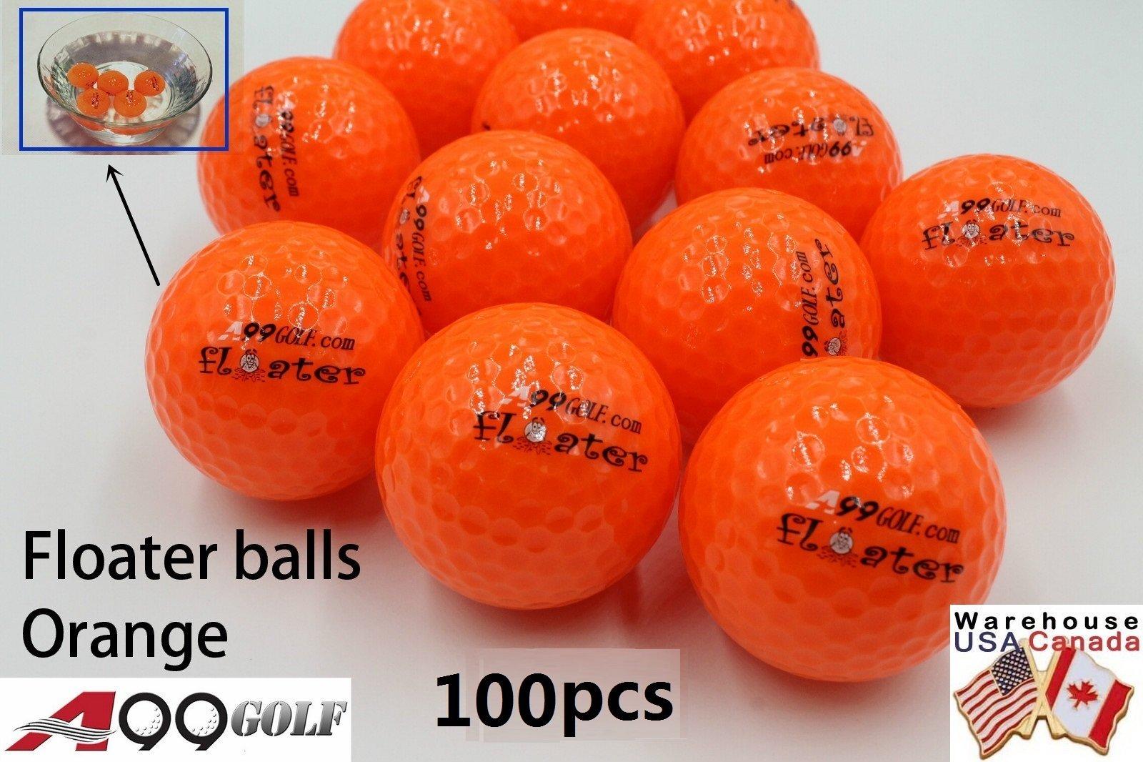 100pcs A99 Golf floater balls orange color with logo - floating balls