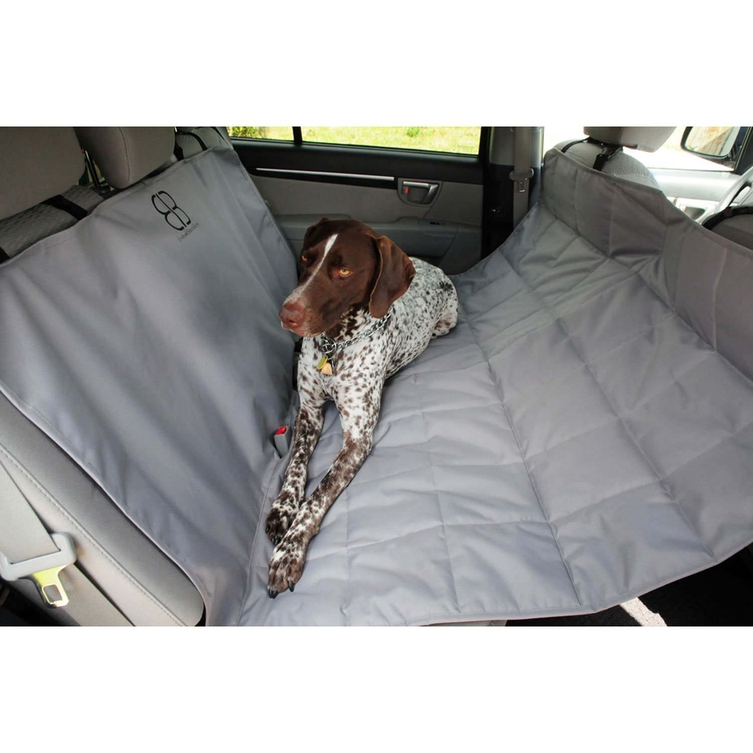 Motor Trend by Petego Hammock Car Seat Protector for Pets, Gray, X-Large