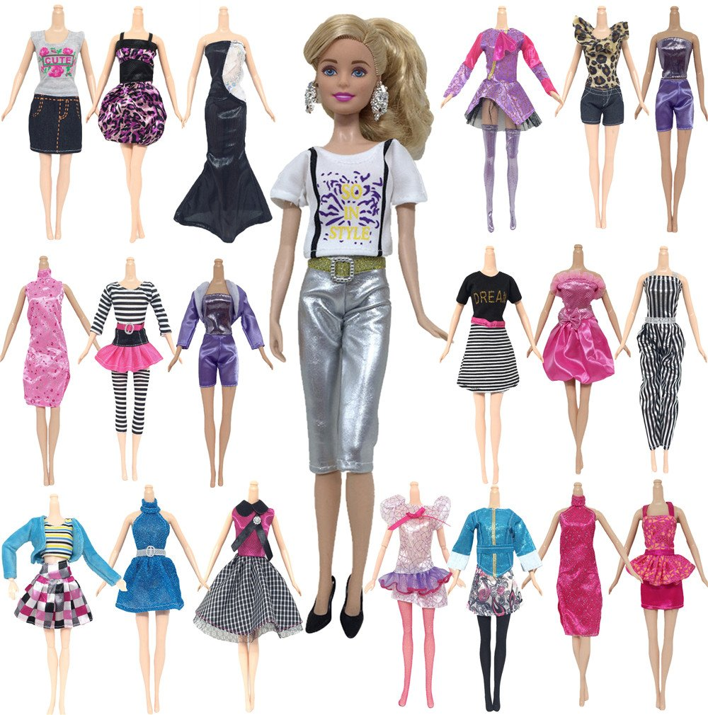 10 PCS tägliche Kleidung Puppe Kleidung Mädchen verkleiden sich ...