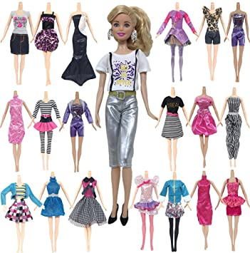 10 Pcs Daily Apparel Doll Clothes Girls Dress Up Clothing For Barbie