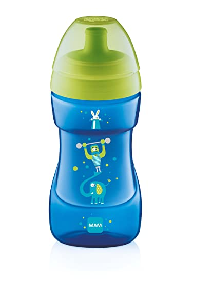 MAM - Botella de agua infantil, color azul. Pasa ...