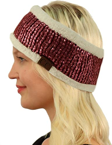 Ear Warmers  Crochet Ear Warmers  Winter Headband  Maroon Headband  Ski Headband  Snowboarding Headband  Womens Winter Headband