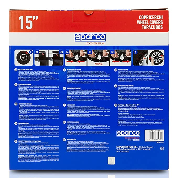 Amazon.com: Sparco SPC1490SV Lazio Wheel Covers, Silver, Set of 4, 14