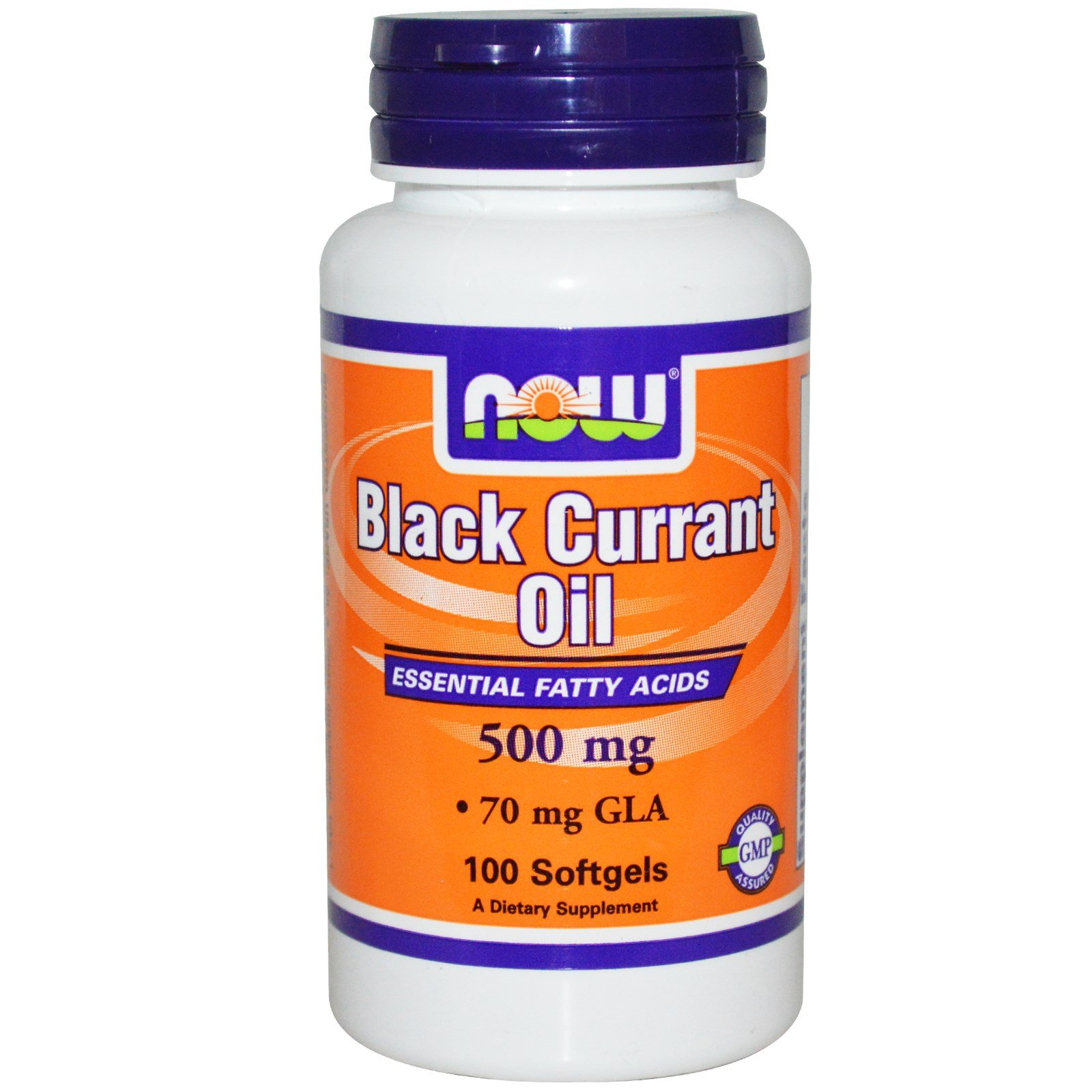 Now Foods Black Currant Oil 500 mg - 100 Softgels 12 Pack