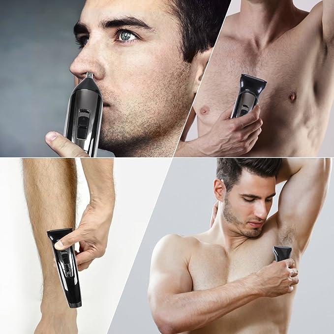 hatteker barbero Beard Kit cortapelos eléctrico hombre Depiladora ...