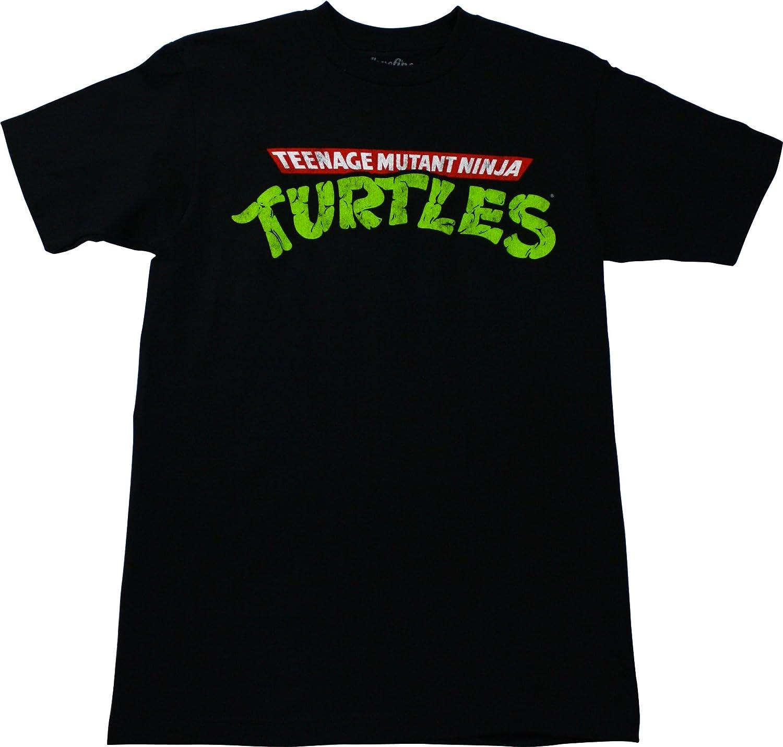 Amazon.com: Teenage Mutant Ninja Turtles Logo Mens T-Shirt ...