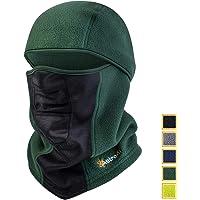 AstroAI Ski Mask Winter Balaclava Windproof Breathable Face Mask for Cold Weather (Superfine Polar Fleece, Army Green)