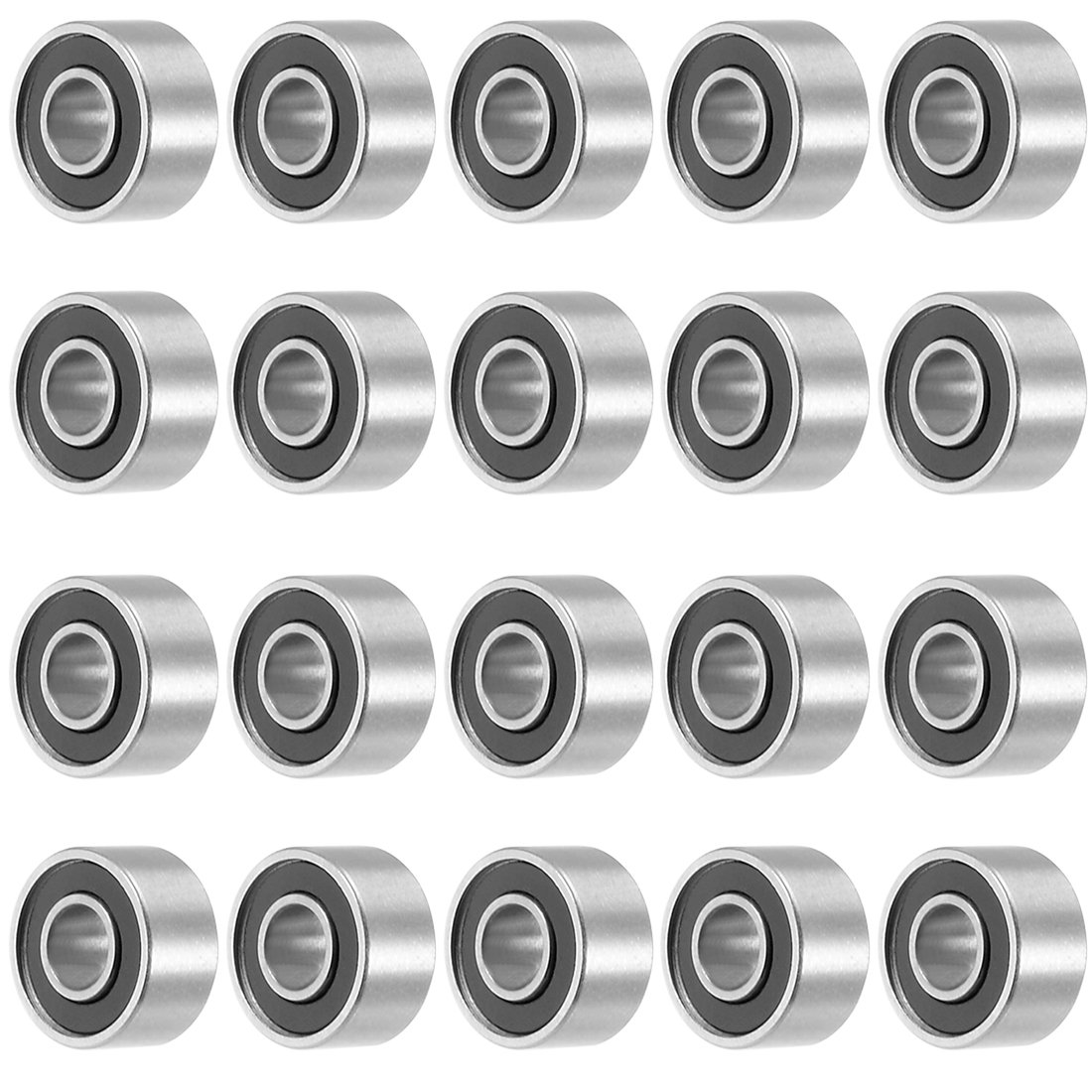 uxcell® 638RS 8mmx28mmx9mm Double Sealed Miniature Deep Groove Ball Bearing 20pcs a17072100ux0465