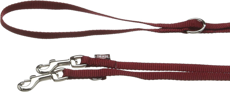 Trixie Premium Double Adjustable Dog Leash Black X-Small//Small