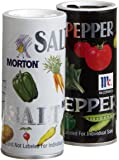 Morton's Salt/McCormick Pepper Double Pack, 5.25-Ounce Shakers (Pack of 12)