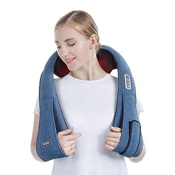 Konjac Masseur pour Epaule Nuque et Cou, Appareil de Massage Shiatsu 3D  Rotative avec Chaleur d92eed02852