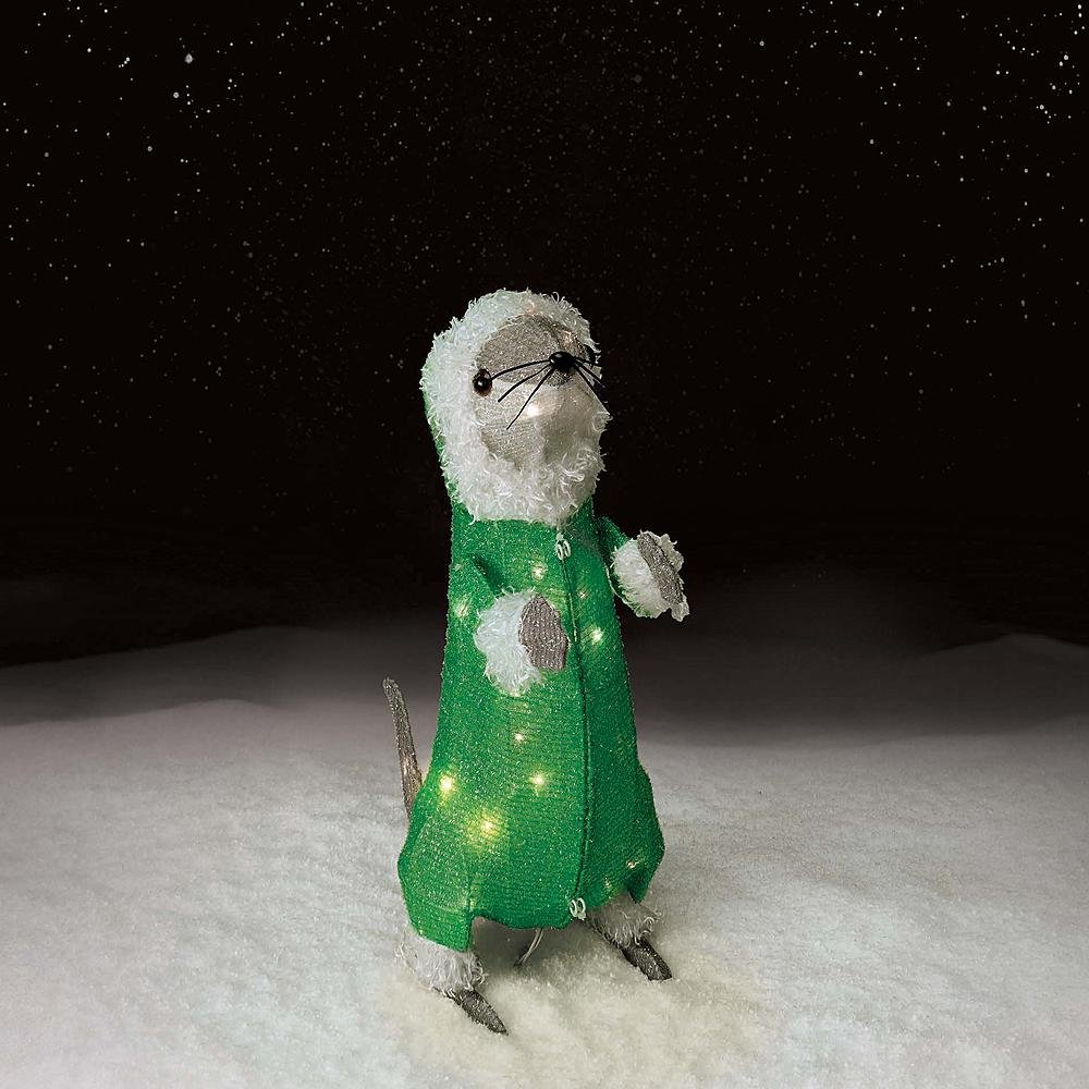20In Tinsel Baby Otter With 35 Lights