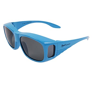 Rapid Eyewear Blue POLARIZED OVER GLASSES Small - Medium Size. Sunglasses  to Wear Over Your 08705938f