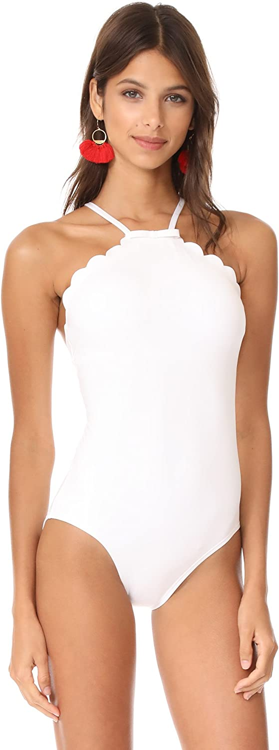 Kate Spade New York Womens Scalloped High Neck One Piece