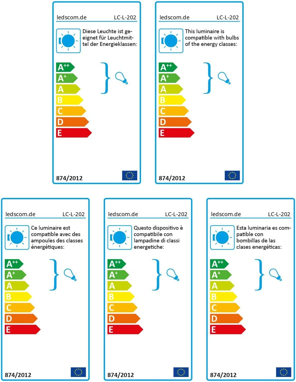 ledscom.de E27 Porcelaine Douille Elektra Ronde avec fiche et Interrupteur Blanche 90mm avec E27 Ampoule 800lm Blanche-Chaude