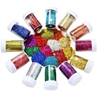 Joyclub Arts and Crafts Glitter Shaker Jars, Glitter Powder for Slime, Scrap-Booking, Body, Face, Party Invitations…
