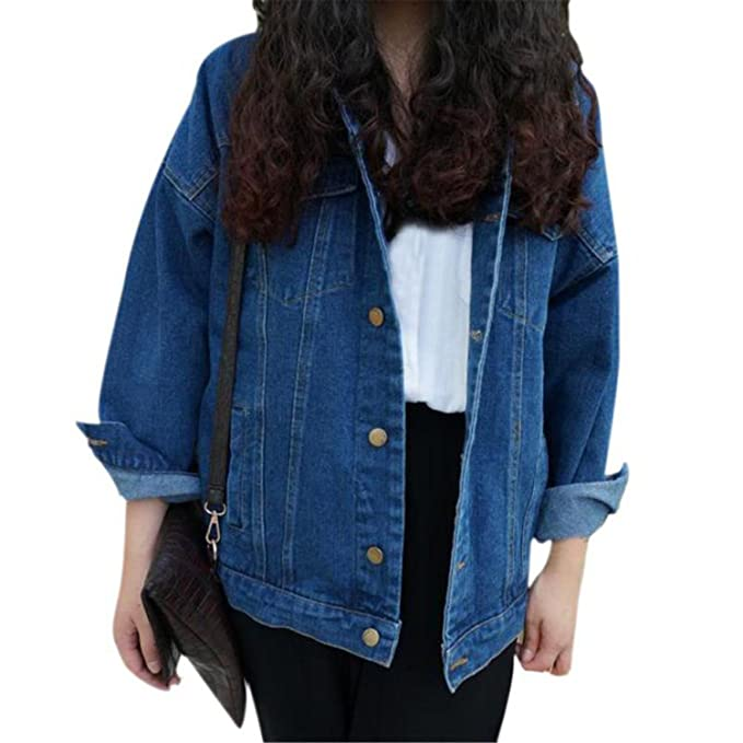 Amazon.com: Special Beauty Nice Vintage Denim Jacket Women ...