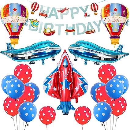 Amazon.com: KERATWOW - Globos de avión, decoración de ...