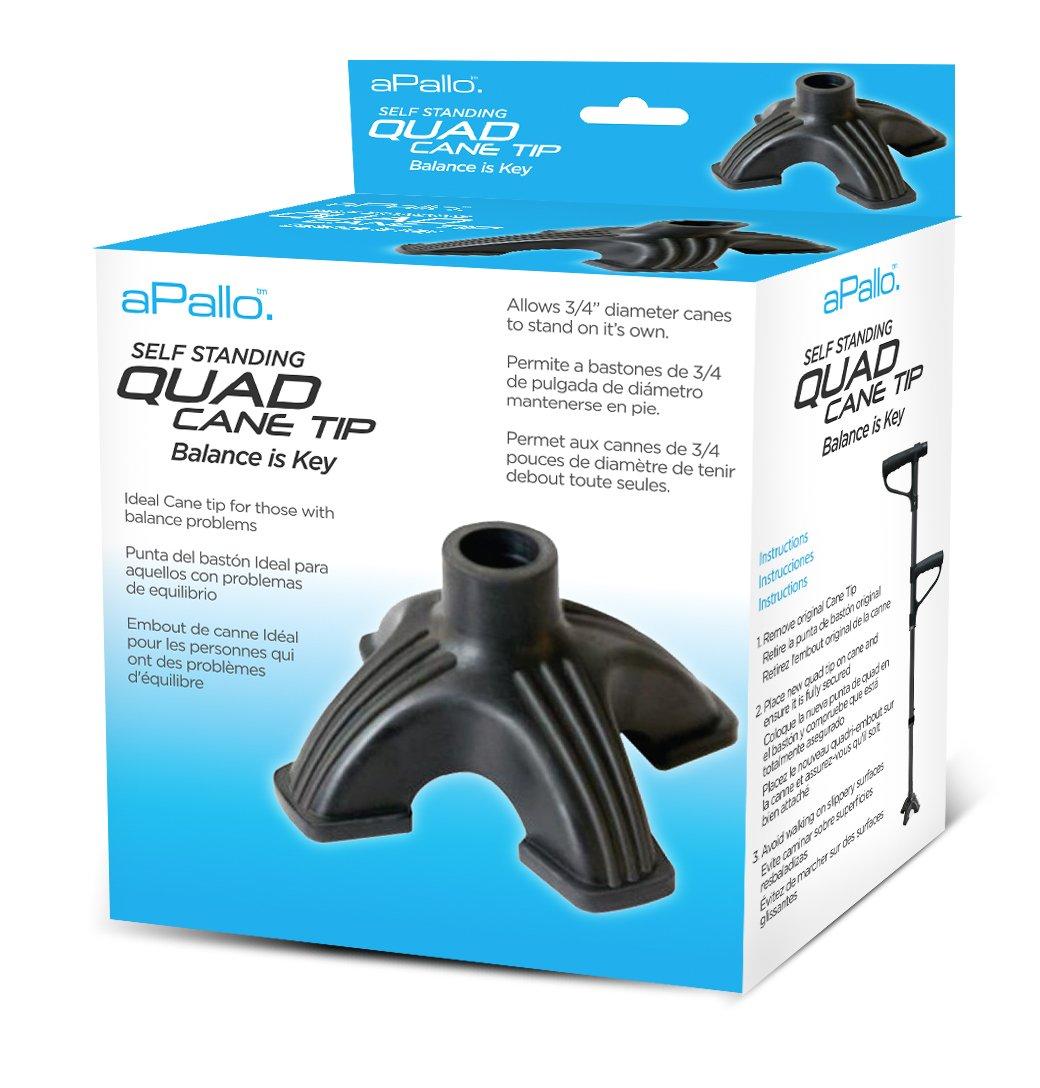 Palo Medical aPallo QT Quad Cane Tip, Black, 0.63-Pound