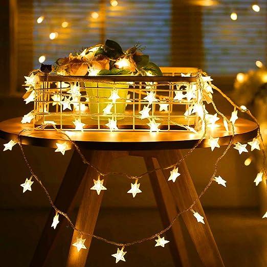 Oferta amazon: SUNNEST Guirnalda Luces Pilas, Luces LED Pilas, Guirnalda Luces Interior Habitacion 5m 50 LED de Alambre Guirnaldas Decoracion Cobre para Decoración Interior Bodas Fiesta de Navidad