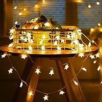 SUNNEST Guirnalda Luces Pilas, Luces LED Pilas, Guirnalda Luces Interior Habitacion 5m 50 LED de Alambre Guirnaldas…