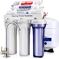 iSpring RCC7AK 6-Stage Under-Sink Reverse Osmosis Drinking Water Filtration System with Alkaline Remineralization Filter…
