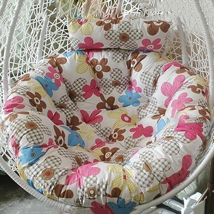 Amazon.com : Gaojiangang Chair Cushions Thousand Bird Nest, Single Basket  Change Cloth, Sofa Chair Cushion Basket Round Cushion Outdoor Chair Pads  With Ties ...