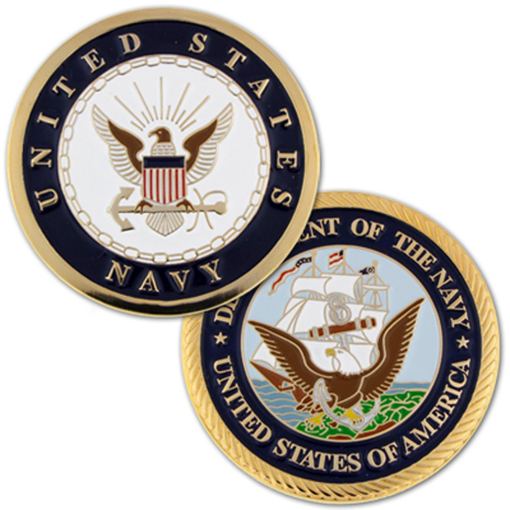 Amazon Us Navy Commemorative Challenge Coin Toys Games